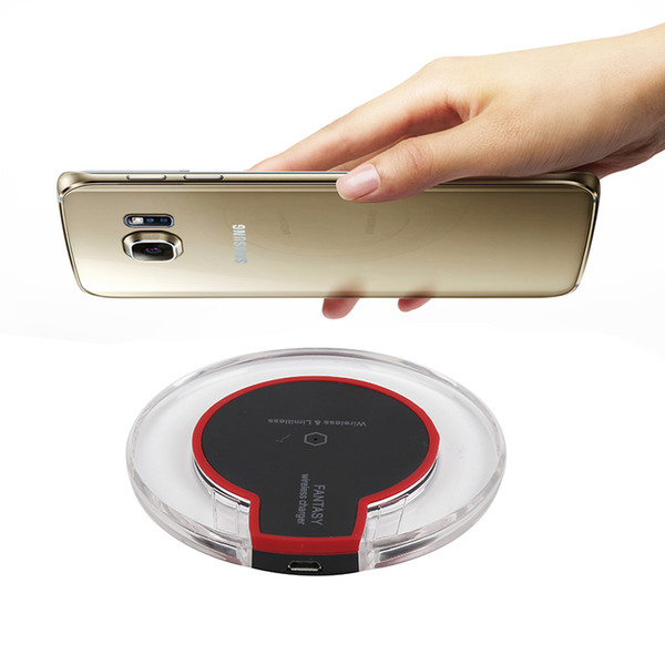 Kristal Qi Kablosuz Şarj Pad Samsung Galaxy S7 / S6 / S6 Kenar, Şarj Paketi Ile Yeni Evrensel Perakende Paketi