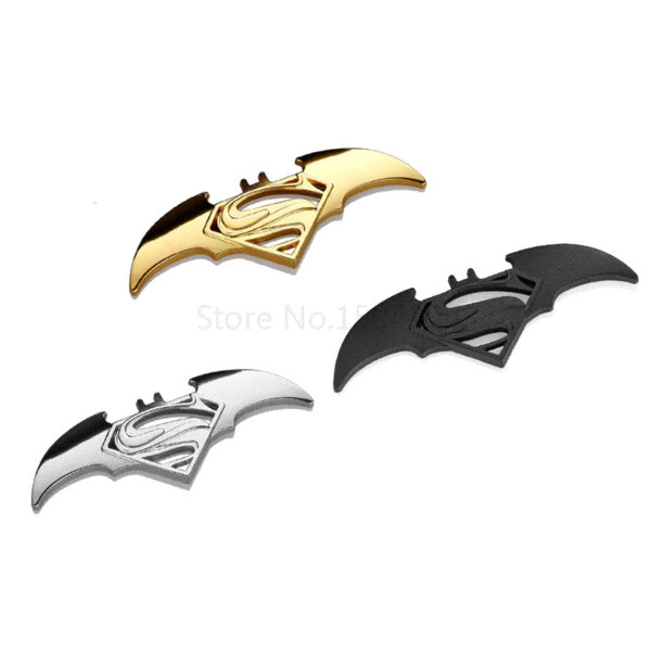 Car-styling 3D Metal Superman Batman Car stickers Emblem Badge Cool Funny Sticker Motorcycle Car styling Accessories Automobiles