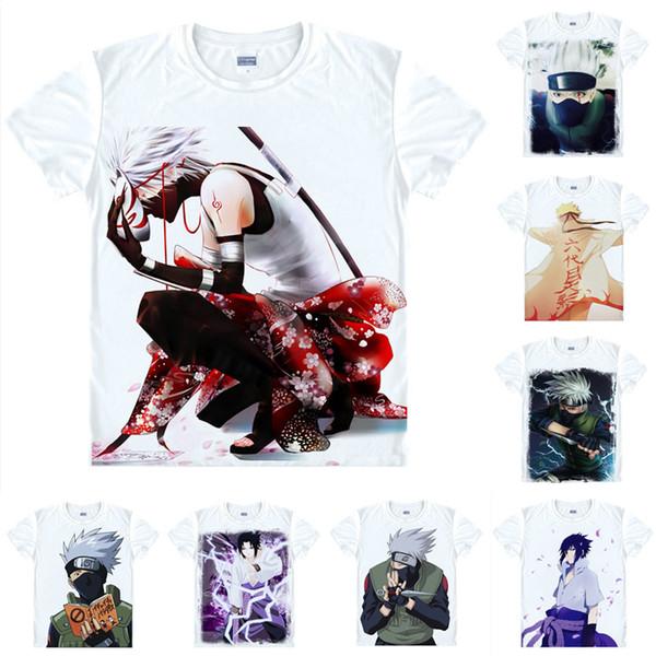 Anime Shirt Ninja NARUTO T-Shirts Multi-style Short Sleeve Kakashi Hatake Itachi Uchiha Cosplay Motivs Hentai Shirts