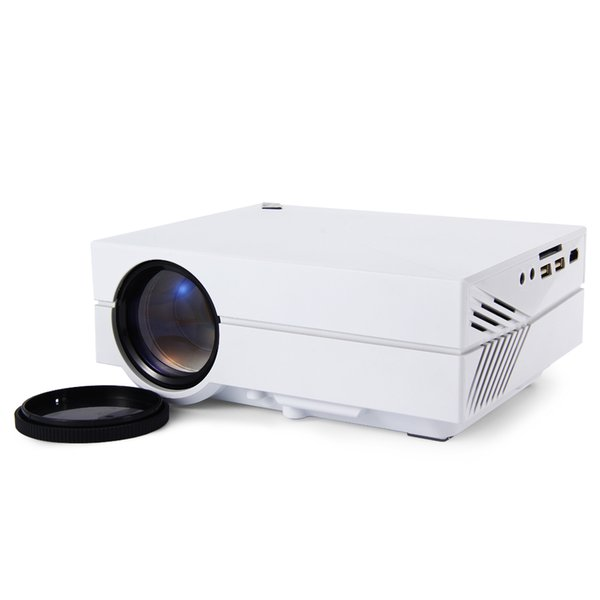 Wholesale-Hot GM60 MINI Portable LED Projector 1000 Lumens Input for Video Games/TV/Home LCD Theater Fashion Designed Beamer/Proyector