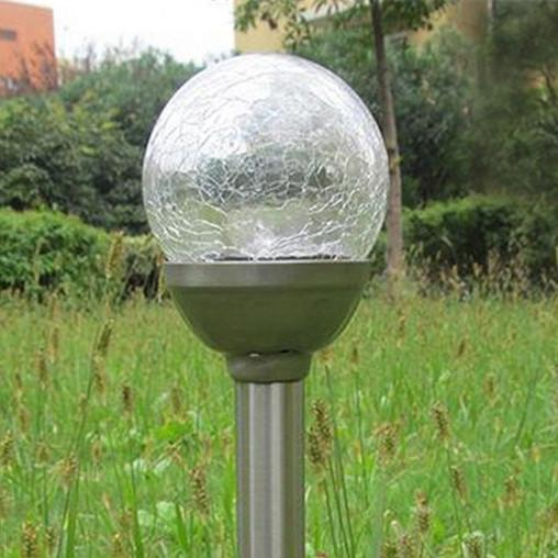 LED Solar Power Ball Lights 39cm ABS+stainless steel Outdoor Waterproof Home RGB Color Lighting Decorations Landscape Garden Lamp in Yard