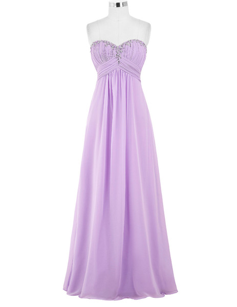 Cheap Sweetheart Green Evening Dresses Long Formal Gown Chiffon Prom Dresses 2017 Sexy Black Purple Royal Blue Evening Party Gowns