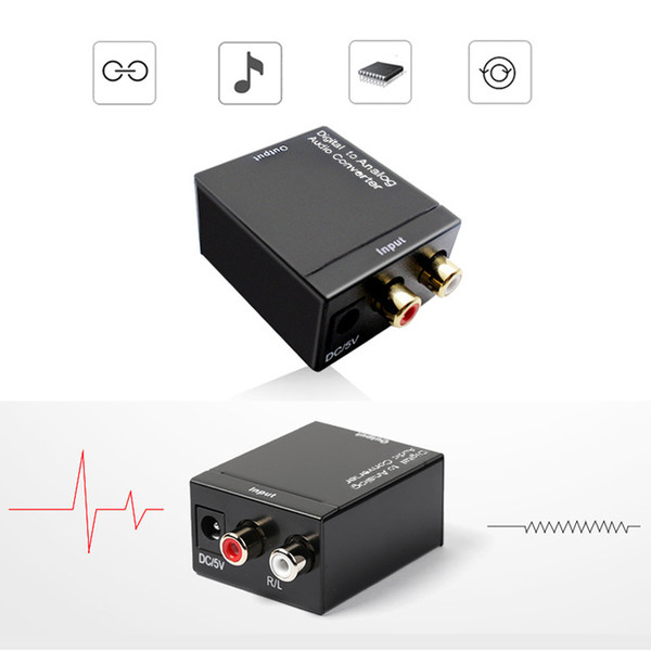 Digitales Adaptador Optic-Koaxial-Cinch-Toslink-Signal-zu-Analog-Audio-Konverter-Adapterkabel