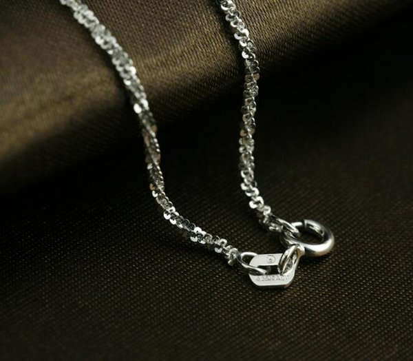3pcs Factory sale S925 Sterling silver Personality silver chain necklace fit pendant clavicle link Italian Chain Twist Chain 16inch 18inch