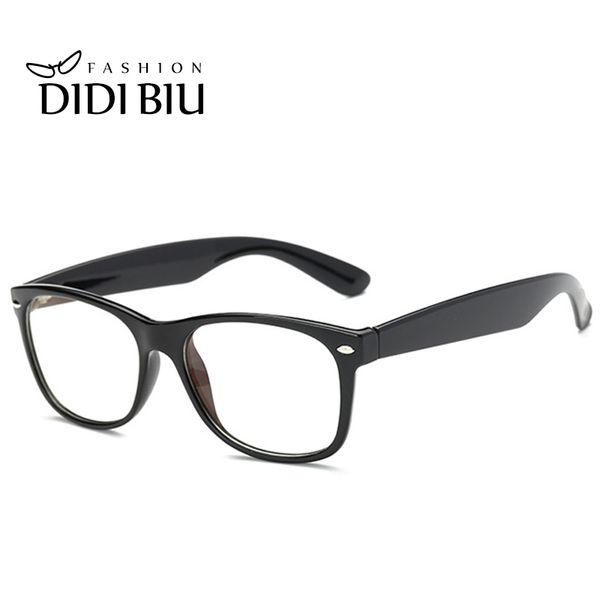 DIDI Anti Radiation & Fatigue Rectangle Eyeglasses Women Men Computer Gaming Clear Glasses Full Rim Prescription Transparent Spectacles U388