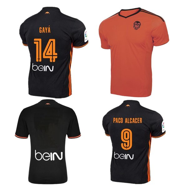 new arrival be3f5 ff4e5 2019 Top Thai Quality 2016 2017 Valencia White Home Jersey Soccer Shirt 16  17 Valencia Cf FOOTBALL SHIRTS Valencia CF Away Black Football Shirt From  ...
