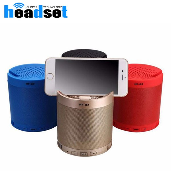 6W Bluetooth speaker grill with phone dock 1200mah powerful speaker grill metal portable 3D stereo grill speaker HFQ3