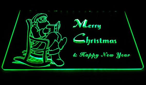 LD006-g-Merry-Christmas-Neon-Light-Sign Decor Free Shipping Dropshipping Wholesale 6 colors to choose