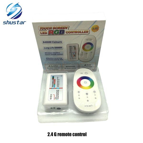 DC12-24V 18A RGB / RGBW Wifi led controller 2.4G touch screen telecomando RF per 5050/3528 RGB led strip / lampadina / downlight / lampada
