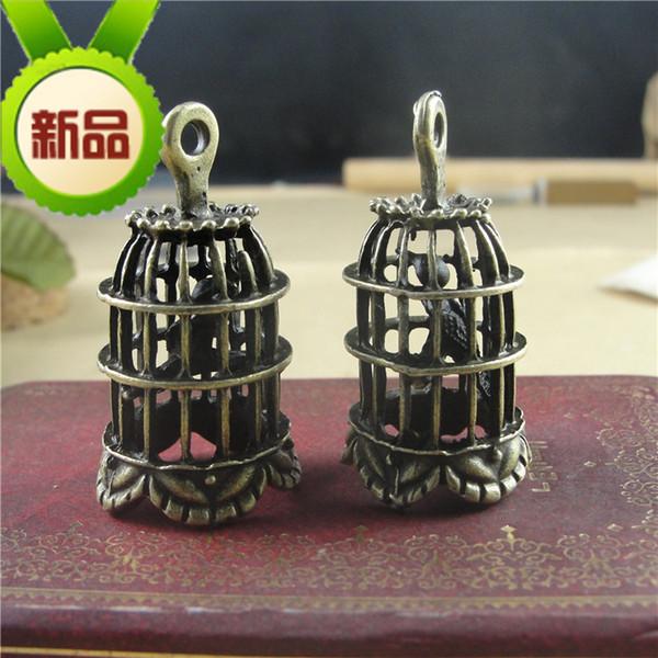 24*43MM Zinc alloy metal retro Bronze Bird's cage charms, Japan and South Korea popular handmade materials DIY accessories wholesale jewelry
