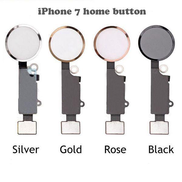 Yeni Orijinal Ana Düğme Kabloları Geri Anahtar Menü Düğmeleri Ile Anahtar Kap Flex Tam Komple Meclisi Yedek parça iPhone 7 Için