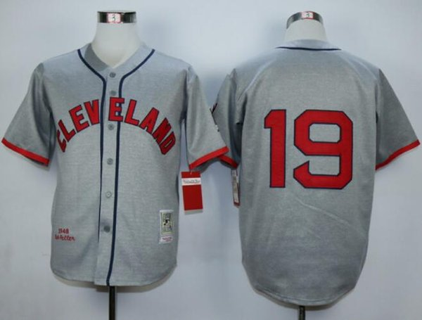 online store b64a3 5114c cleveland indians bob feller 19 grey authentic jersey sale