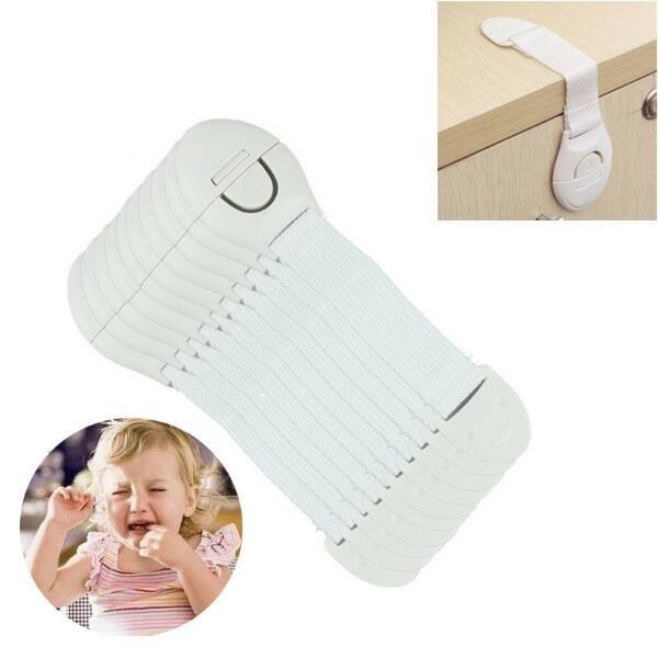 Serrures de sécurité pour bébés en plastique pour enfants Serrure de protection Armoire Tiroirs Réfrigérateur Serrure de toilette Enfants Baby Care Sangle de sécurité LA486