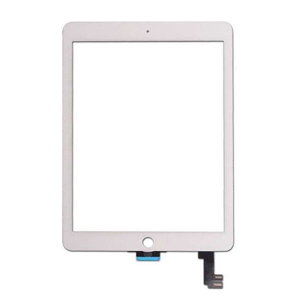 50PCS Nuevo Touch Panel Glass Digitalizador para iPad Air 2 Balck y blanco envío gratis
