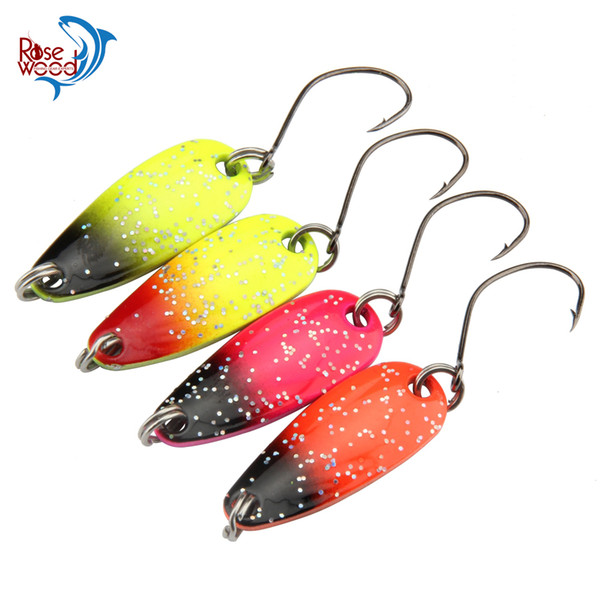 Rosewood Fishing First Class 20pcs 3g Spinner Metal Fishing Lure Fishing Spoon Tackle Paillette Sequins Spoon Lure Mix Color Hard Bait China