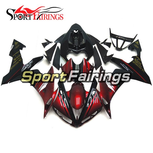 Complete Motorcycle FIAT Red Black Matte New Fairings For Yamaha YZF1000 R1 2004 2006 Injection ABS Fairings Motorcycle Bodywork Cowlings