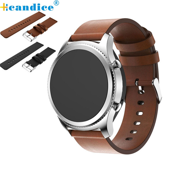 Wholesale- Hot sale Fabulous Replacement Leather Watch Bracelet Strap Band For Samsung Gear S3 Frontier wholesale No29