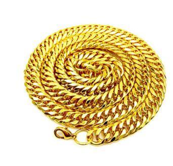 Men Hip-Hop gold-plated necklace 10MM diamond dense chain 18k Cuba chain