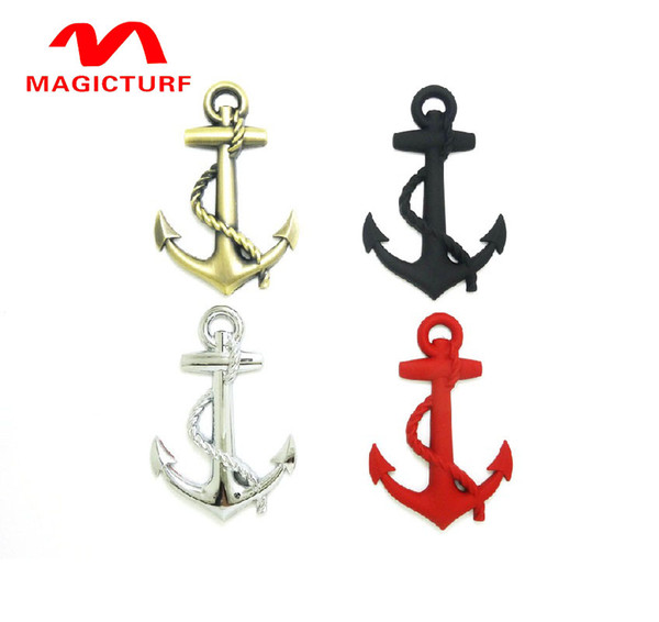 New Black/Silver/Gold Top Quality Boat Anchor Solid Zinc Alloy Car Styling Emblem 3D Sticker /Grille Cool Exterior Hot Selling