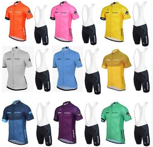 best selling Strava Summer Cycling Jerseys Ropa Ciclismo Breathable Bike Clothing Quick Dry Bicycle Sportswear short sleeve shirt+bib shorts set D1115