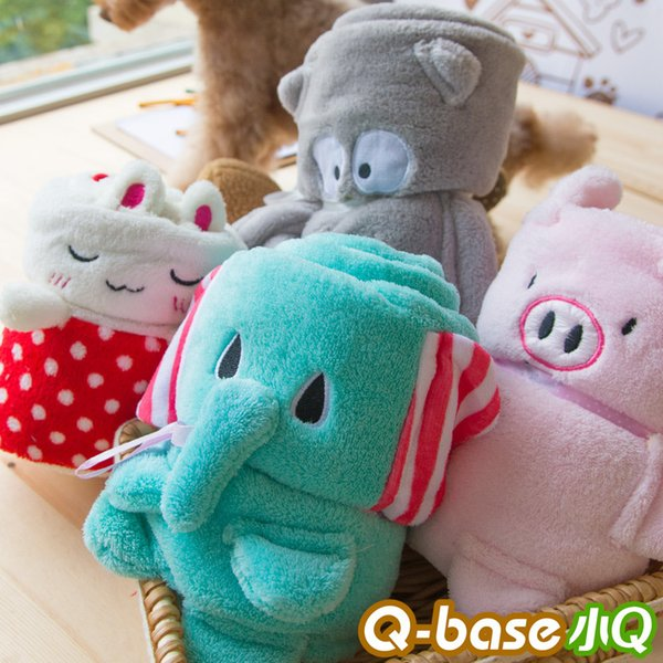 Wholesale- Cartoon Cute Dog Blanket Elephant Rabbit Owl Pig Cuddly Soft Warm Pets Animals Towel Goods For Small Chihuahua Yorkie Dachshunds