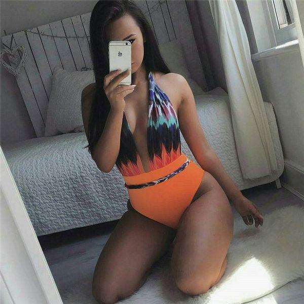 2017 Print Swimsuit Women Bandage Bikini Sexy Bikinis Set Swimsuit One Pieces Swimwear Beach Brazilian Bathing Suit Biquinis