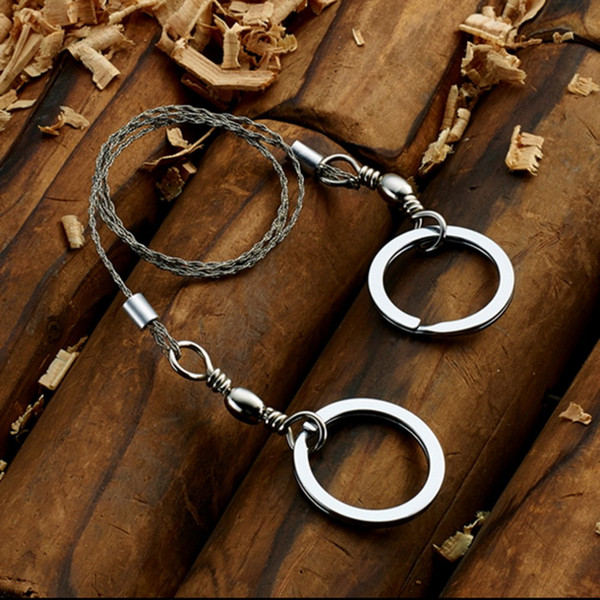 1pcs High Quality Stainless Steel Wire Saw Outdoor Practical Emergency Survival Gear Tools