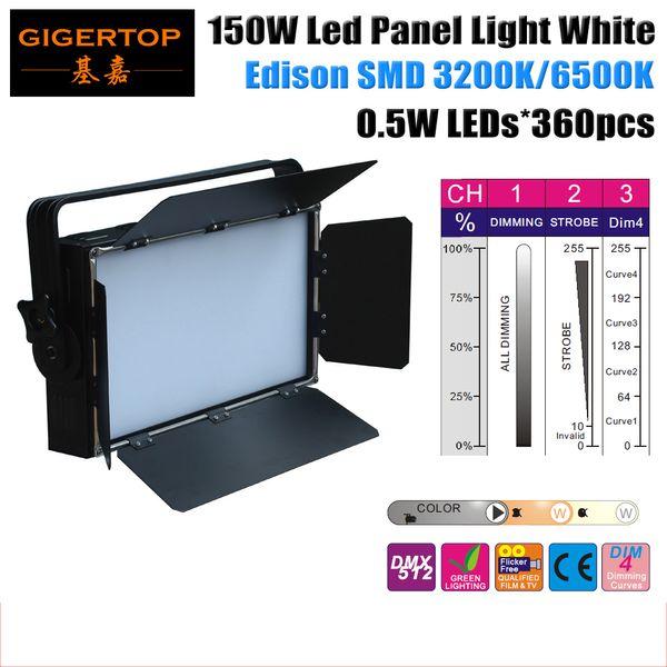 Gigertop 150W White Led Panel Light 360x0.5W Warm White 3200K 90V-240V Studio Movie Light Import Edison Lamp 3 DMX Channels Control