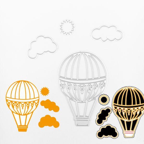 Großhandel 4 Teile Satz Heißluftballon Metall Stanzformen