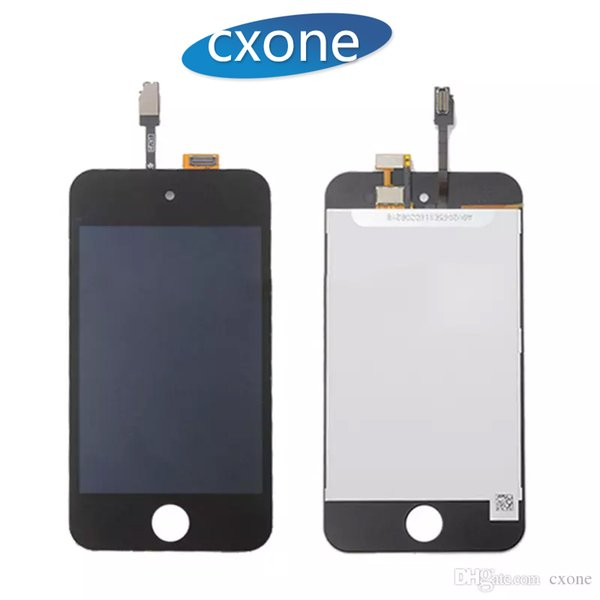 Wholesal Good Quality For Apple iPod Touch 4 LCD No Dead Pixels Black Touch Screen with Digitizer Full Assembly replacemen White Free DHL