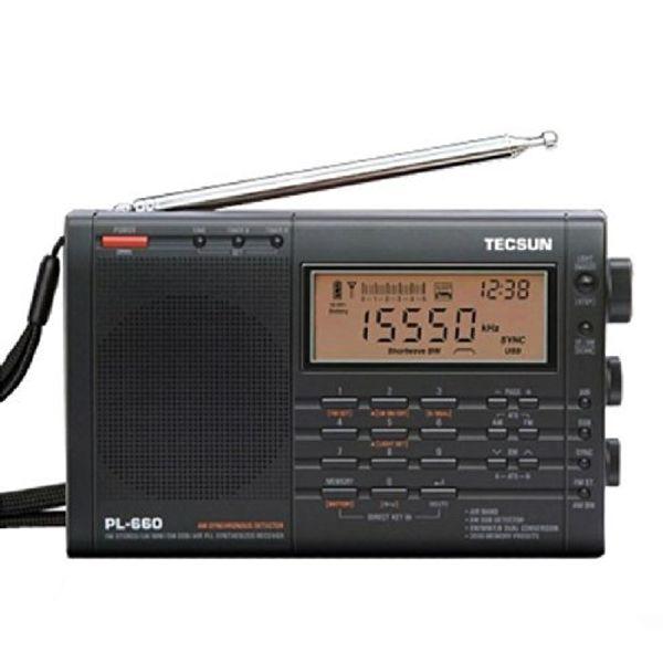 Wholesale-TECSUN PL-660 Digital Tuning Full-Band FM/MW/SW-SBB/PLL SYNTHESIZED Stereo Radio Receiver (4xAA)