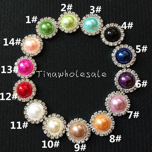 15mm white irovy flat back wholesale rhinestone pearl embellishment button for DIY wedding invitation card ,baby hair accessory 100pcs/lot