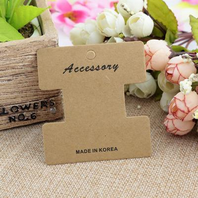 100 pcs/lot 7*7.5cm Kraft Paper Hair Clip Hair Band Card Display Cards Wedding Hair Accessories Jewelry Packaging Card Gifts