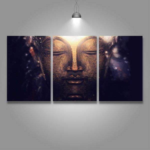 3 Panneau Moderne Toile Art Bouddha Méditation Peinture Artistique Image pour Home Decor Salon Chambre Mur Œuvre