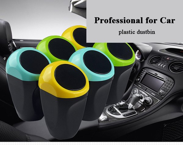 Car Styling Mini Car Dustbin Vehicle Trash Dust Case Holder Bin Professional Garbage Can Plastic Storge for Car Stowing Tidying Storage Case