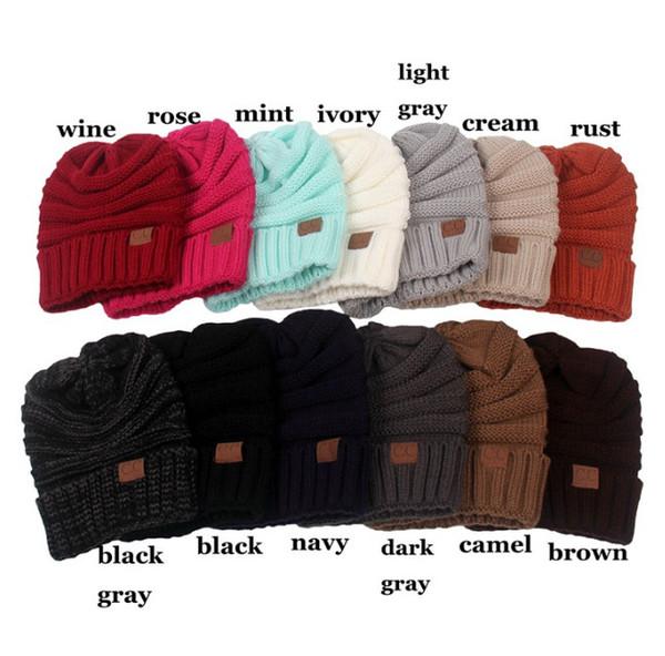 1614ba94fa9 Winter Knitting Wool Warm Hat Daily Slouchy Beanie Skull Cap Sikye Men  Women Warm Crochet Winter