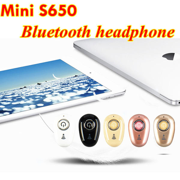 Mini Sport Bluetooth 4.1 S650 Earphone Stereo in ear Headphones Earbuds handfree Headset for iphone Samsung HTC Universal
