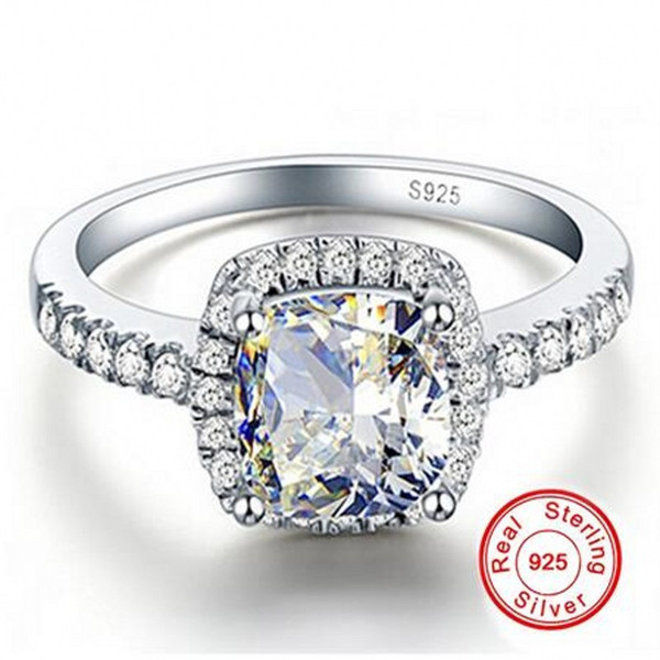 Big Promotion 3ct Real 925 Silver Ring SWA Element white SONA Diamond Rings For Women Wholesale Wedding Engagement Jewelry New SIZE 5-12