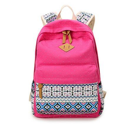 110f7063da Ethnic Women Backpack For School Teenagers Girls Vintage Stylish Ladies Bag  Backpack Female Purple Dotted Printing High Quality Kids Backpacks Dakine  ...