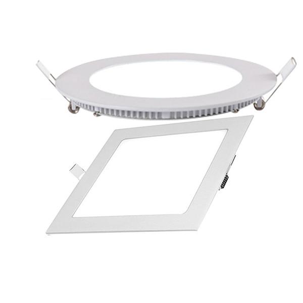 Hot sale 3w 6w 9w 12w 15w 18w 20W led panel light ceiling recessed downlight round square slim panel lamps AC100-240V CE RoHS