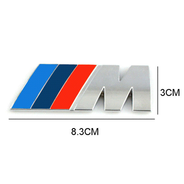 Car styling Car Decoration Emblem Badge M Logo Metal 3D Car Sticker for BMW M3 M5 X3 X5 X6 E36 E39 E46