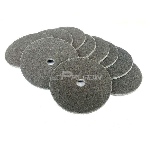 best selling 10 pcs 150*6mm S C Non-woven Unitized Wheel Nylon Polishing Disc 7P P180 for Stainless Steel Welding Spot Grinding