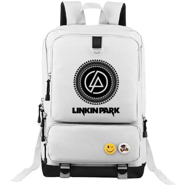 Linkin Park backpack Popular band school bag Fans daypack Music schoolbag Outdoor rucksack Sport day pack