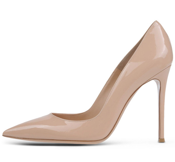 Zandina Ladies Handmade Fashion Elegant 100mm Pointy Basic Office Party Prom High Heel Pumps Shoes Nude Z7103