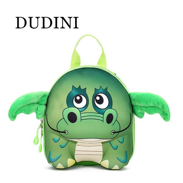 Wholesale- DUDINI New 3D Cute Animal Design Backpack Kids School Bags For Teenage Girls Boys Cartoon Shaped Children Backpacks Big Size