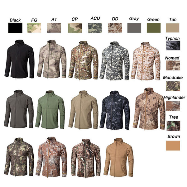 best selling Outdoor Clothes Woodland Hunting Shooting Tactical Camo Coat Combat Clothing Camouflage Windbreaker Softshell Outdoor Jacket NO05-200