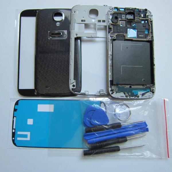 Cep Telefonu Aksesuarları Parçaları Samsung Galaxy S4 S IV i9505 Tam Konut Kapak + Orta Çerçeve + Case Arka +