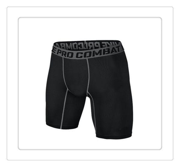 top popular Outdoor Shorts PRO Short Men Slim Fitted Compression Active Shorts Sweatpants Bodybuilding Combat Dry Leggings Men Short Pants Free Shipping 2019