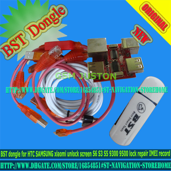 Free Ship BST Dongle For HTC SAMSUNG Xiaomi Unlock Screen S6 S3 S5 9300  9500 Lock Repair IMEI Record Date Best Smart Tool Dongle Unlock Sim Free