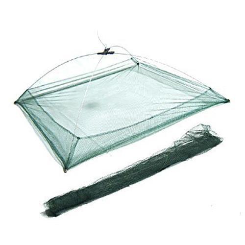 Wholesale- Wholesale 5X New 76 x 76 cm Umbrella Design Crab Trap Cast Lures Fishing Dip Net Green